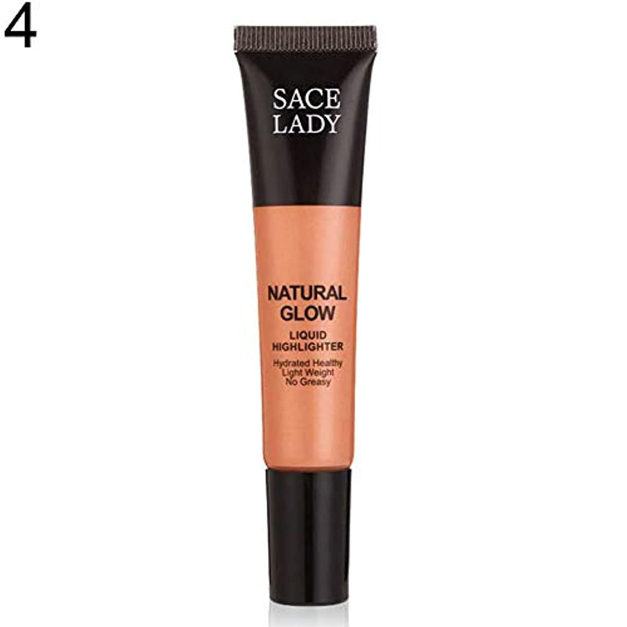 ピッチフローティング高揚したSACE LADY液体蛍光ペン水和非脂っこい化粧顔ブロンザー - 4#