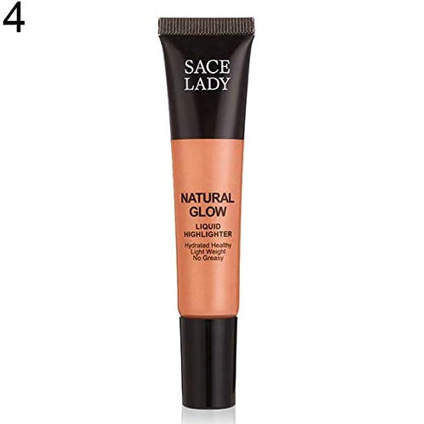 仕えるばかげた電気的SACE LADY液体蛍光ペン水和非脂っこい化粧顔ブロンザー - 4#