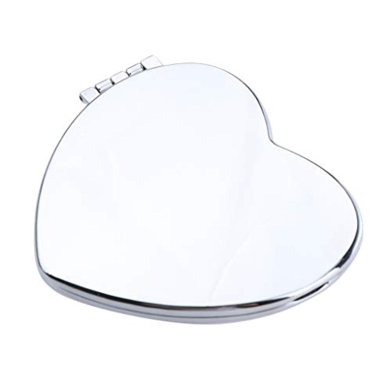 ドーム休日クローゼットポータブルポケットミラーコンパクトメイク化粧品ファッション虚栄心ミラー - ハート型