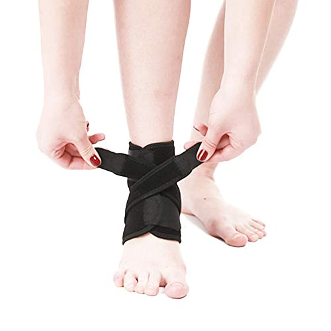 光沢パイプライン部分足首のサポート - 回復力と自信を高めます - 関節炎、腱炎、スポーツ捻挫の回復に最適(黒、1個)