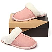 EVER UGG Rosa Australian Shepherd Unisex Scuff/Slippers, Genuine Sheepskin Lining