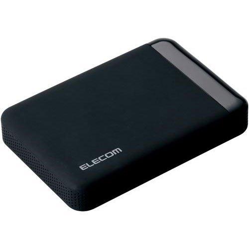 エレコム USB3.0 ポータブルHDD ハードウェア暗号化 パスワード保護 500GB ELP-EEN005UBK