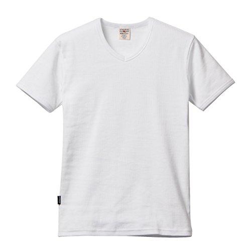 (アヴィレックス)AVIREX デイリーVネックリブTシャツ 半袖 S ホワイト