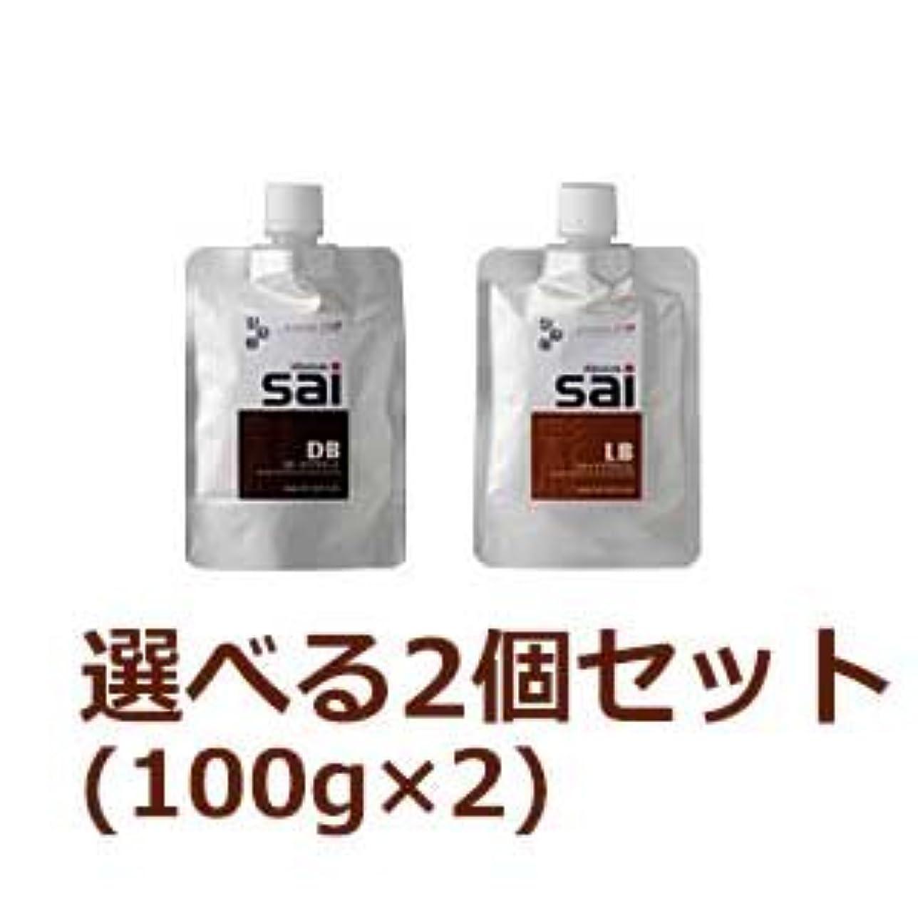 立方体熟考する虎【2個セット】 エムズ ハーブカラートリートメント彩 sai 100g (DB×LBセット)