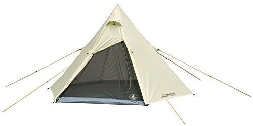 キャプテンスタッグ(CAPTAIN STAG) テント ワンポールテント ヘキサゴン ティピー型 3~4人用 【サイズ300×250×H180cm】 UV・PU加工 キャリーバッグ付き CSクラシックス UA-34