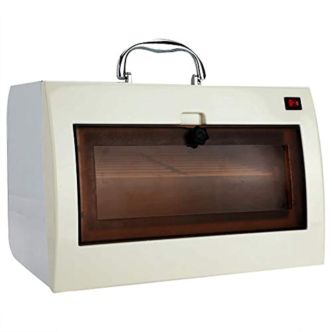 サーキットに行く暴行摂氏度タオルウォーマー 消毒ボックス UV オゾン滅菌キャビネット ネイルツール用 タオルおよびホットハサミ用美容滅菌装置美容院 (1)