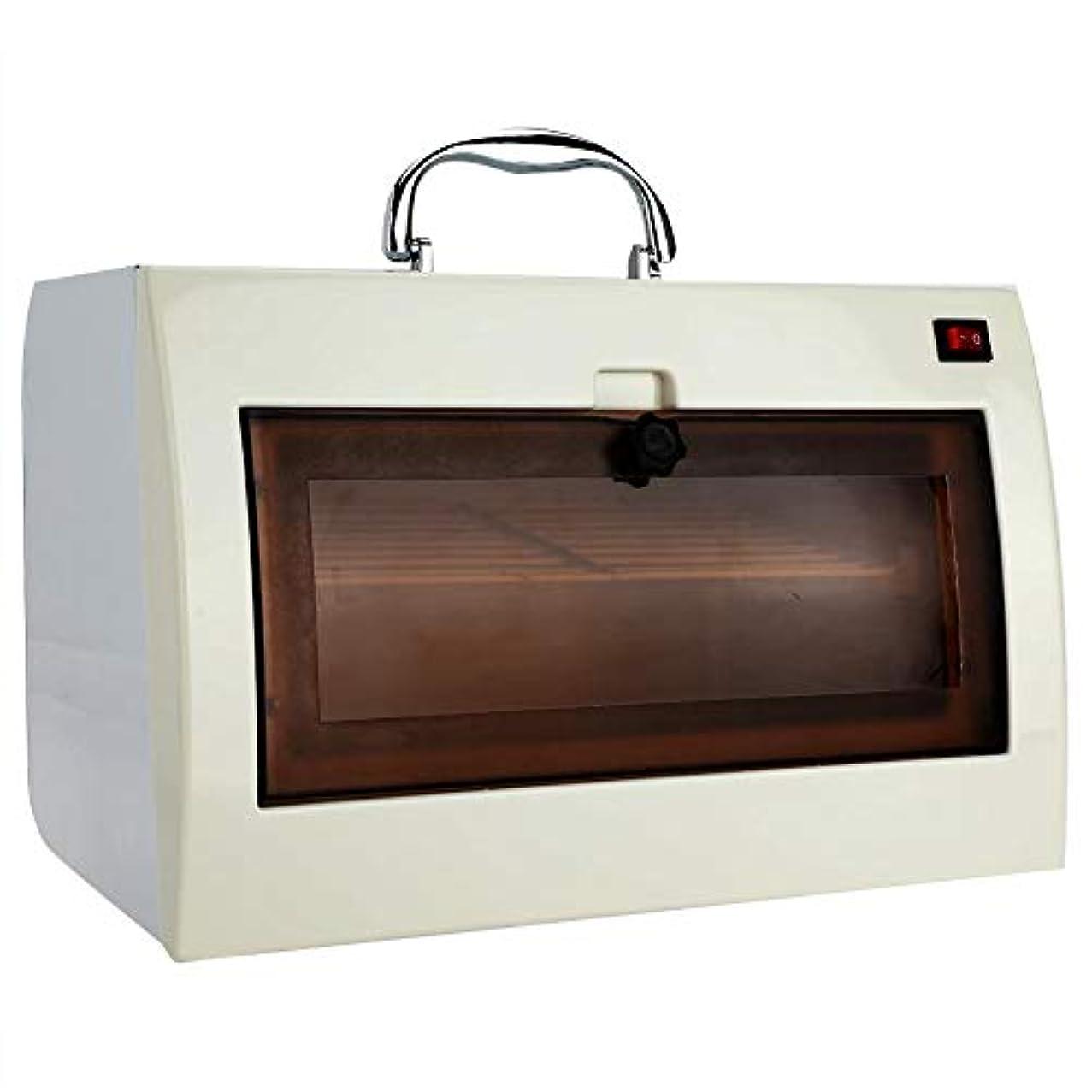 仮定クリアヘッドレスタオルウォーマー 消毒ボックス UV オゾン滅菌キャビネット ネイルツール用 タオルおよびホットハサミ用美容滅菌装置美容院 (1)
