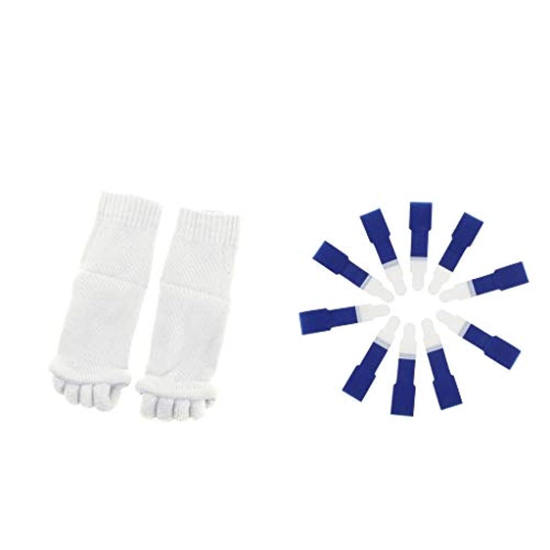 照らす許容できる無人dailymall ヨガジムスポーツソックスと洗えるハンマーつま先セパレータースプリント包帯