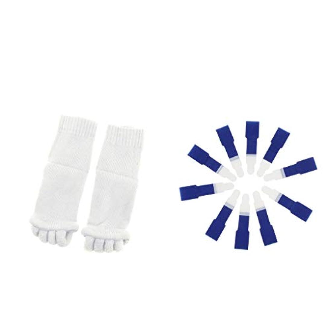 基礎予知連帯dailymall ヨガジムスポーツソックスと洗えるハンマーつま先セパレータースプリント包帯