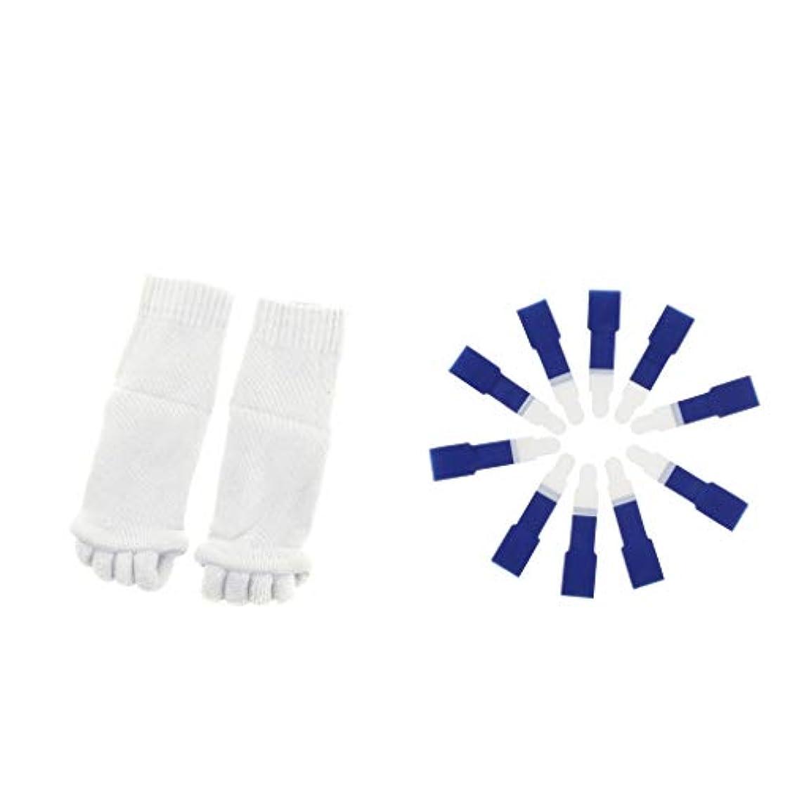 シャープ異形成長するdailymall ヨガジムスポーツソックスと洗えるハンマーつま先セパレータースプリント包帯