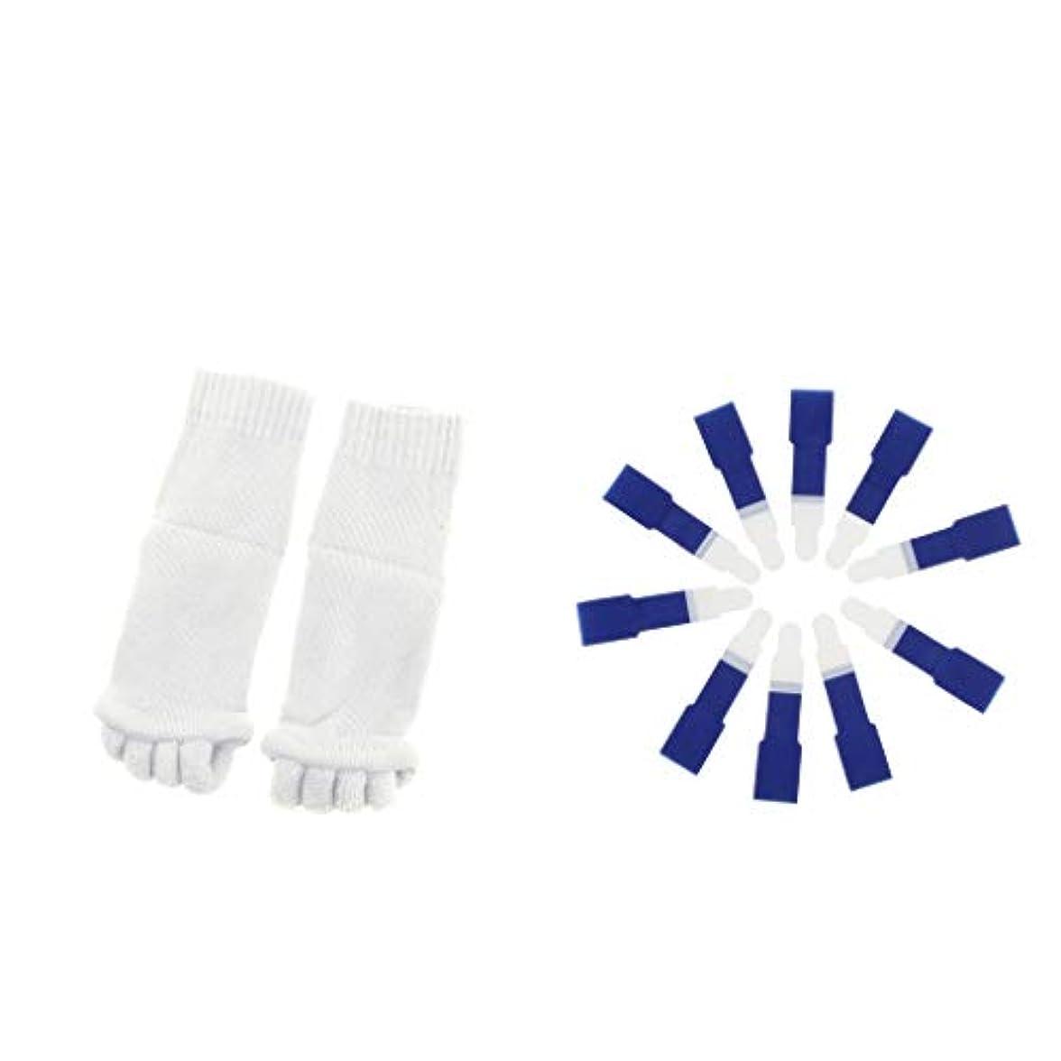 空いているドナー原子dailymall ヨガジムスポーツソックスと洗えるハンマーつま先セパレータースプリント包帯