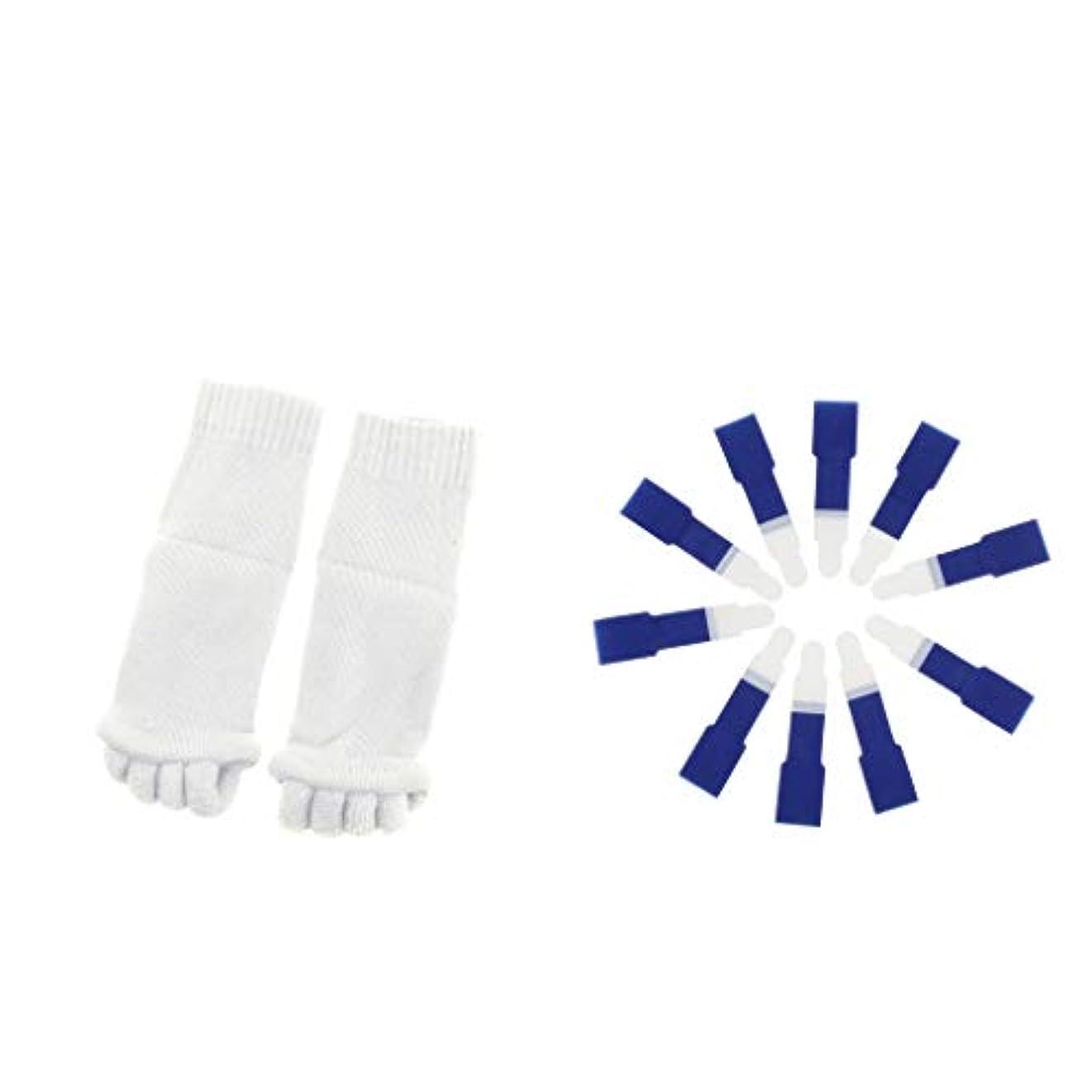 突撃シャッター平らなdailymall ヨガジムスポーツソックスと洗えるハンマーつま先セパレータースプリント包帯