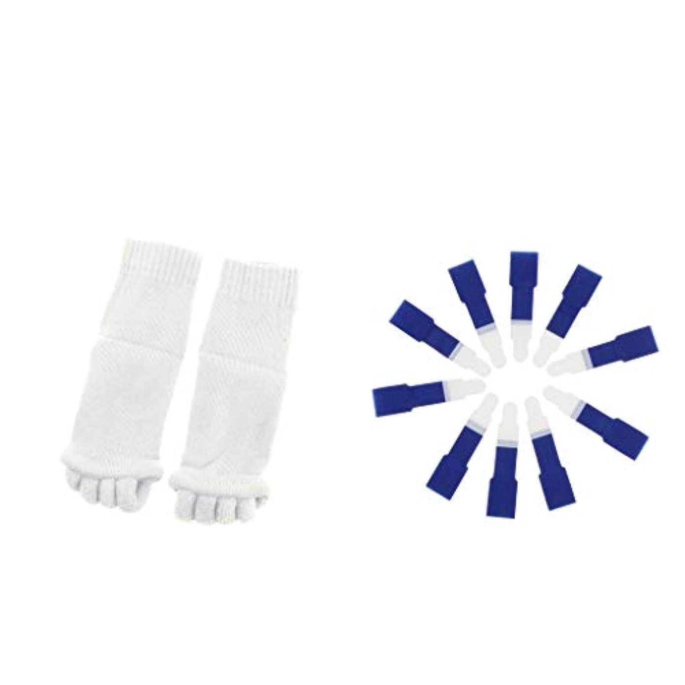 救援繕うリップdailymall ヨガジムスポーツソックスと洗えるハンマーつま先セパレータースプリント包帯