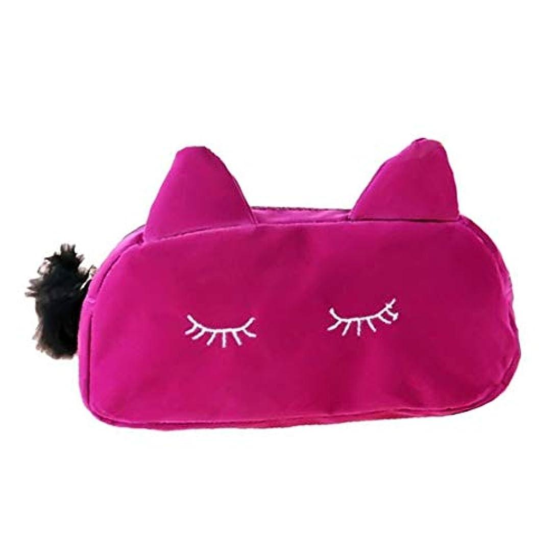 貞小人法王猫耳 化粧 コスメ ポーチ 小物入れ ペンケース かわいい 猫 ねこ にゃんこ メイクポーチ レディース