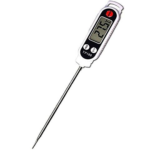 デジタル 温度計,KIMIHE 【新品高精度・省エネ温度計】 防水 料理用 多用途 ステンレス製 キッチン温度計 温度管理に最適