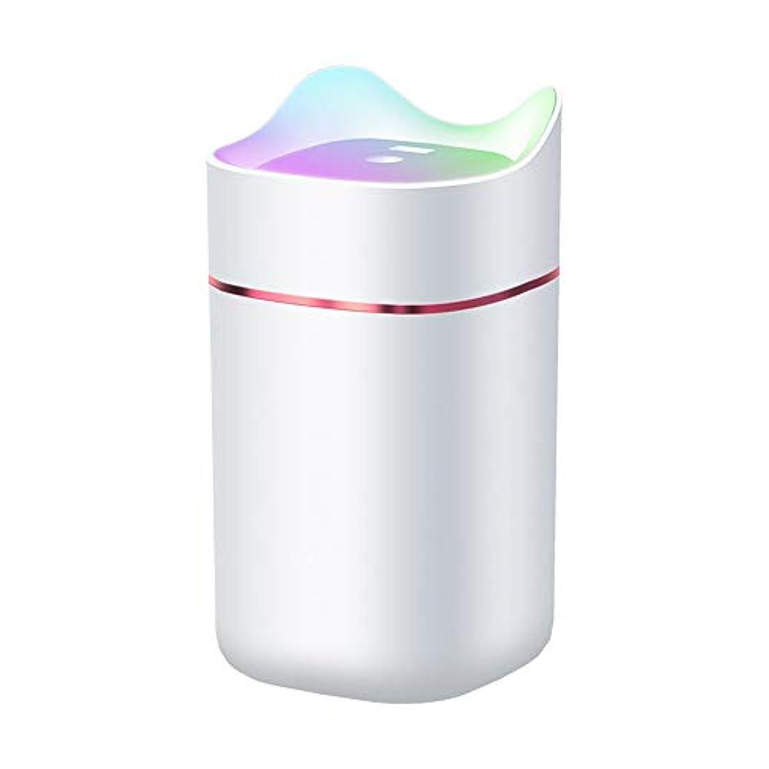 マント揺れる伝導率サイレント空気加湿器、家庭用アロマセラピーミニ加湿器、自動シャットダウンと7色の夜間照明機能