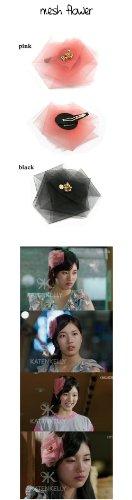 韓国ドラマ 『BIG』 ☆ miss A スジ 着用 ヘアピン ☆ mesh flower (pink)