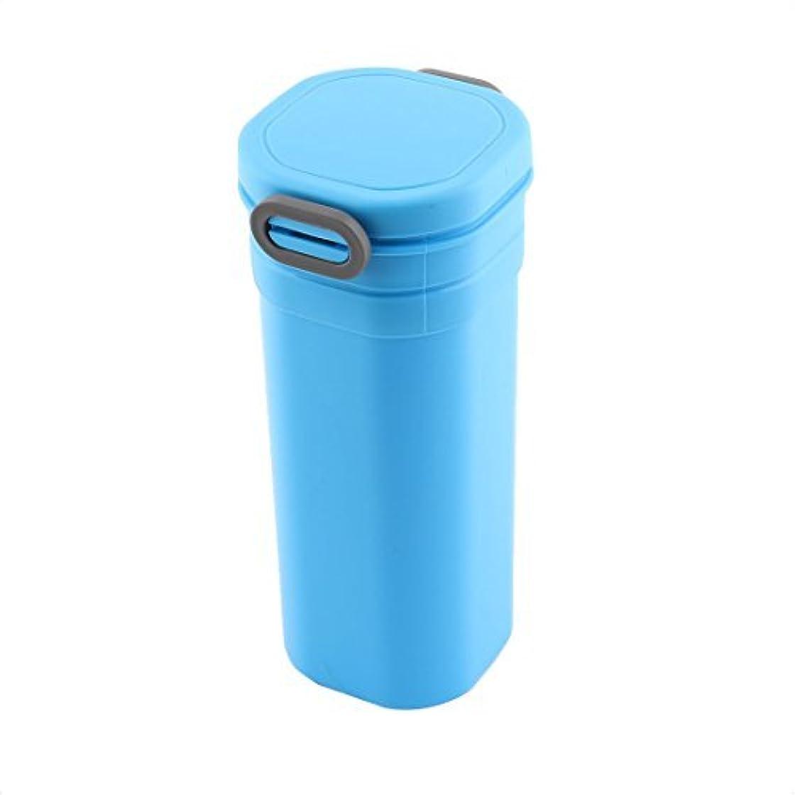 推進力まだら黒くするDealMuxプラスチックファミリーオフィスポータブル水のコーヒーホルダーボトルカップ600ミリリットルブルーグレー