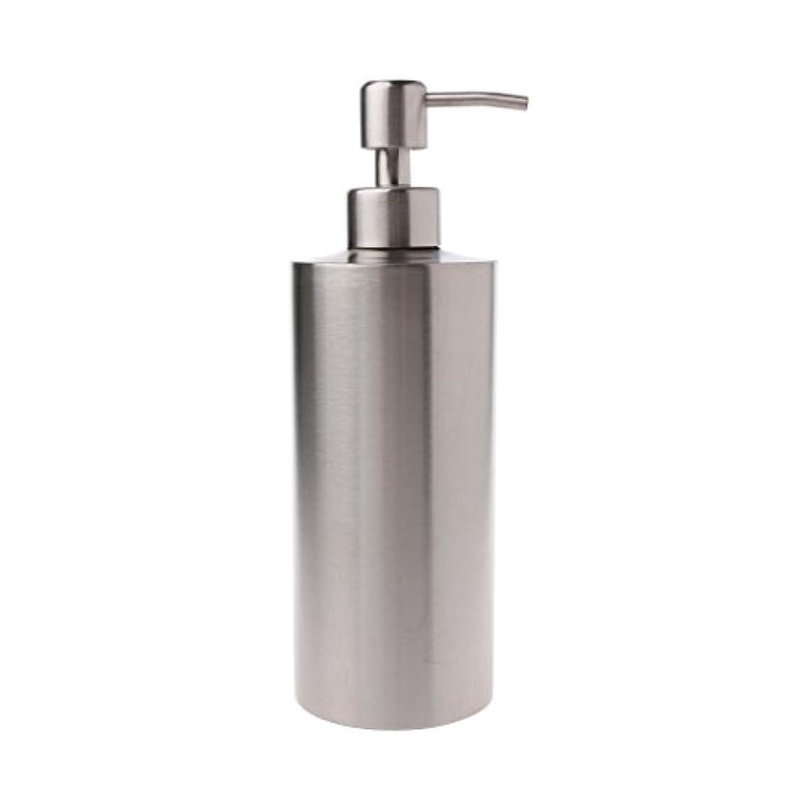 キャリア隣接憧れLamdoo 304ステンレス鋼ポンプ液体石鹸ローションディスペンサーボトルキッチンバスルーム