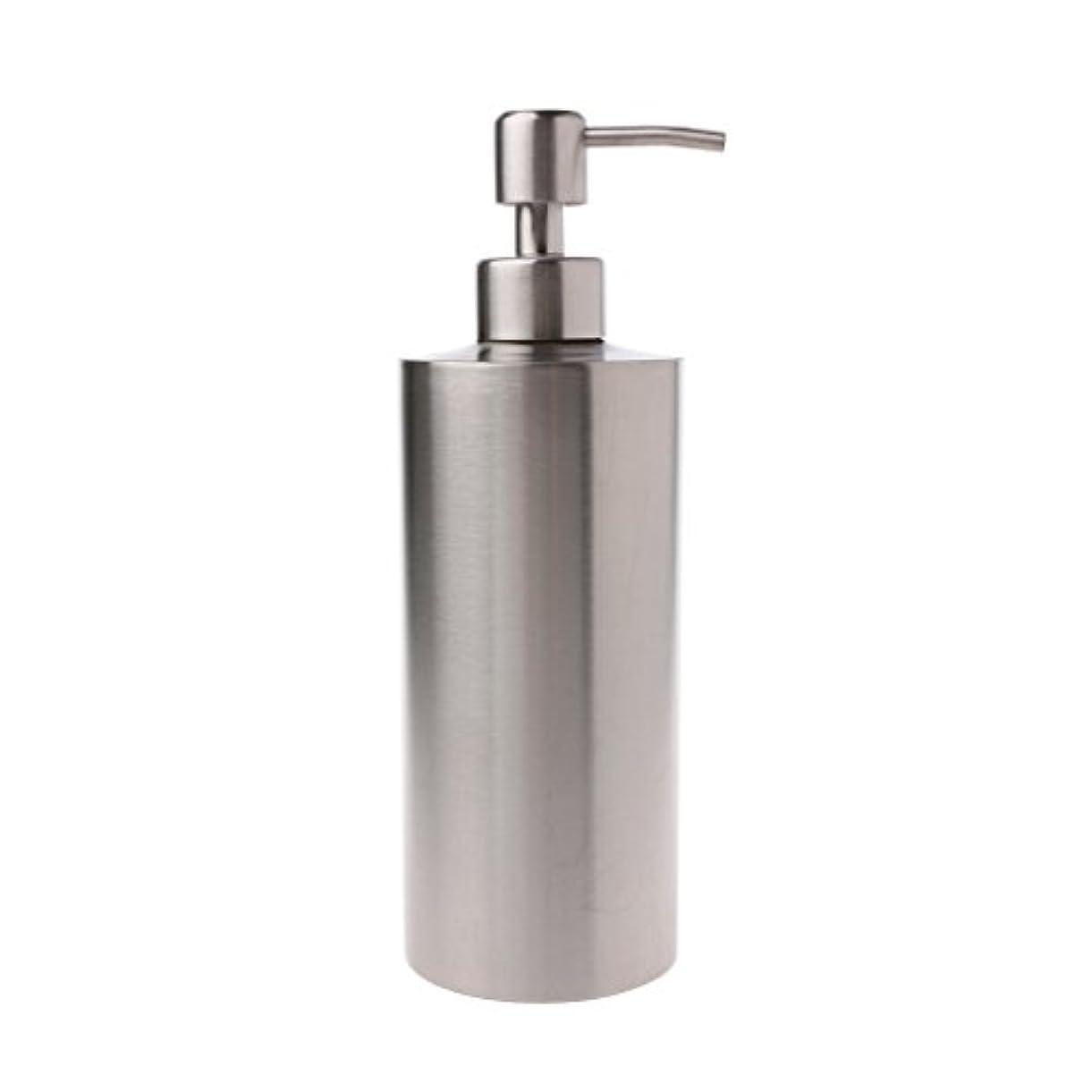 弱める不合格四分円Lamdoo 304ステンレス鋼ポンプ液体石鹸ローションディスペンサーボトルキッチンバスルーム
