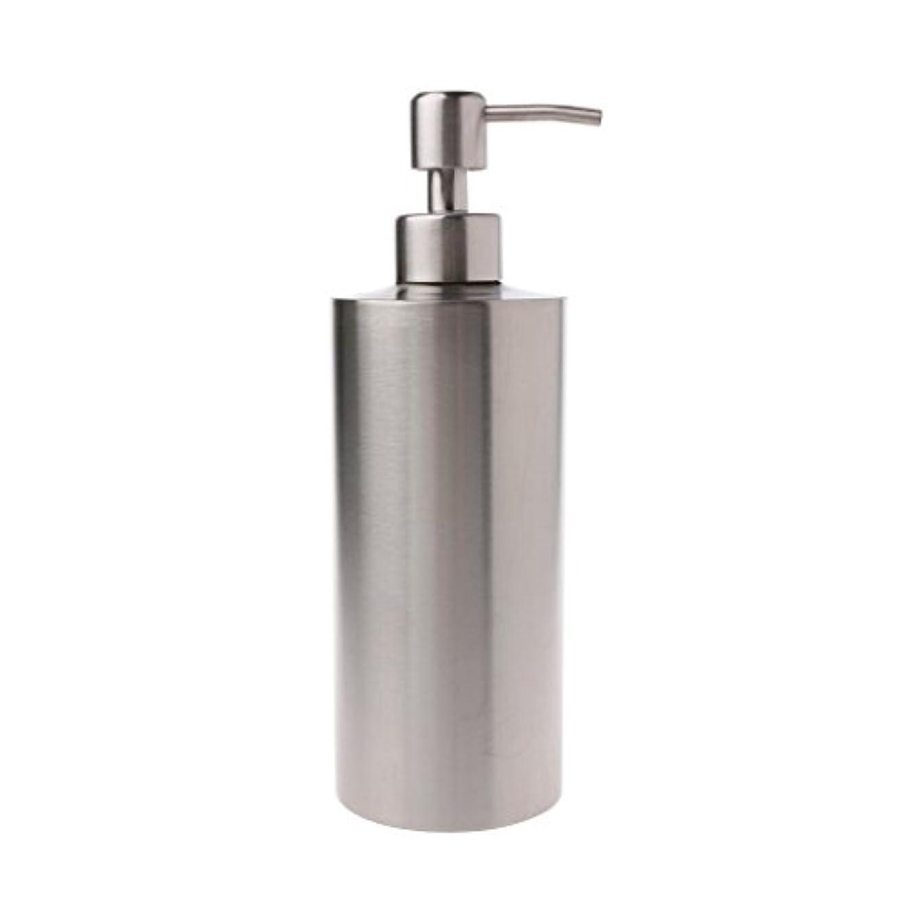 Lamdoo 304ステンレス鋼ポンプ液体石鹸ローションディスペンサーボトルキッチンバスルーム