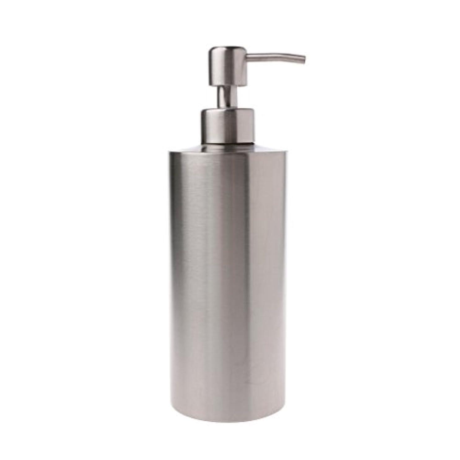 鼓舞する死ぬLamdoo 304ステンレス鋼ポンプ液体石鹸ローションディスペンサーボトルキッチンバスルーム