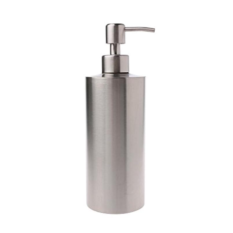 嘆願特殊縞模様のLamdoo 304ステンレス鋼ポンプ液体石鹸ローションディスペンサーボトルキッチンバスルーム