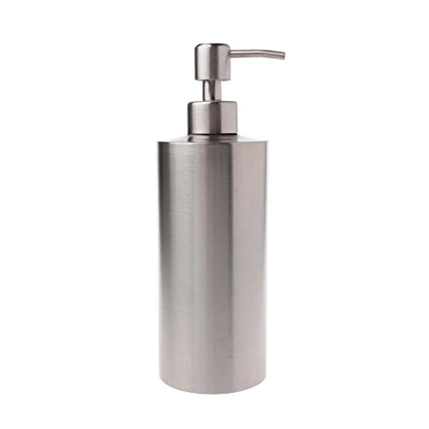 カビ広範囲激怒Lamdoo 304ステンレス鋼ポンプ液体石鹸ローションディスペンサーボトルキッチンバスルーム