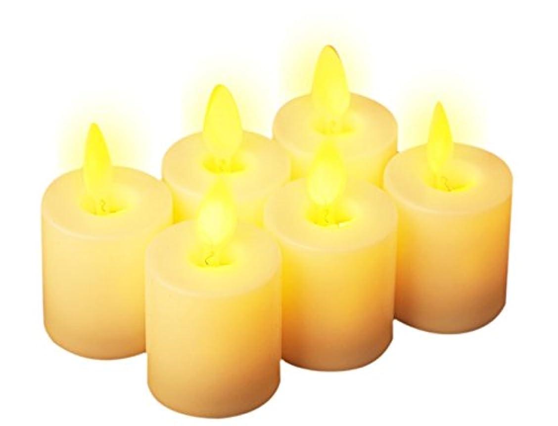 ぼろ木レクリエーションLEDキャンドル 6個セット 電池式蝋燭