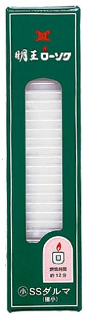 ビバ布窓を洗うマルエス 明王ローソク SSダルマ 200g