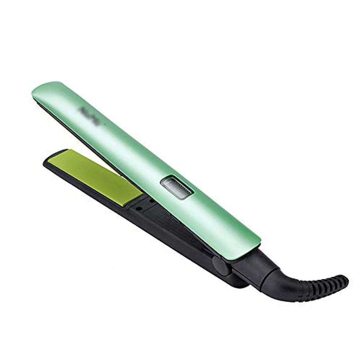 合わせて典型的な役に立たない1ストレートヘア&カーリーに付き2、セラミックLCDストレートヘアプレート、プロフェッショナルストレートヘアアイロン モデリングツール (色 : オレンジ)