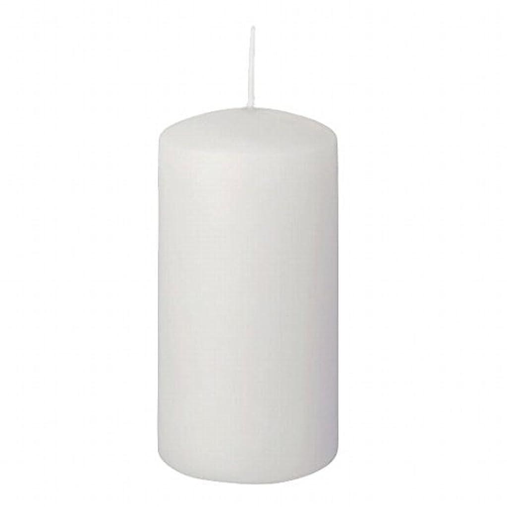 影響力のある赤面刈るヤンキーキャンドル(YANKEE CANDLE) 4インチピラー50 「 ホワイト 」