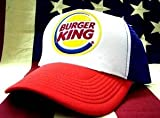 アメカジ メッシュキャップ BURGER KING バーガーキング (トリコロール(ホワイト×レッド×ブルー))