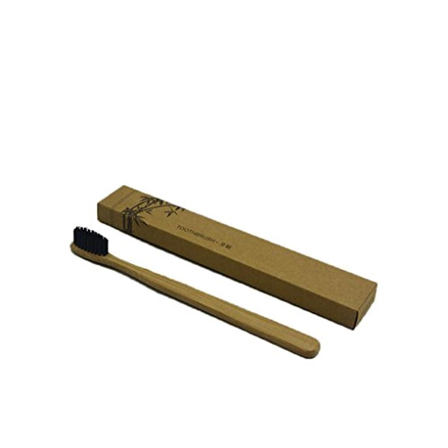 桃大胆不敵ロッジArichops 竹製歯ブラシ ミディアム及びソフト、生分解性、ビーガン、バイオ、エコ、持続可能な木製ハンドル、ホワイトニング 歯 竹歯ブラシ