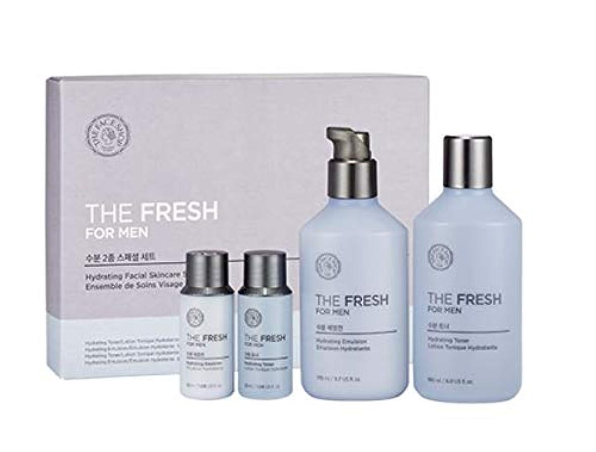 クルー先祖耐えられないザ・フェイスショップ ザ・フレッシュフォーマン・ハイドレーティング・フェイシャルスキンケアセットトナー(150+32ml)エマルジョン(140+32ml)メンズコスメ、The Face Shop The Fresh For Man Hydrating Facial Skincare Set Toner(150+32ml) Emulsion(140+32ml) Men's Cosmetis [並行輸入品]