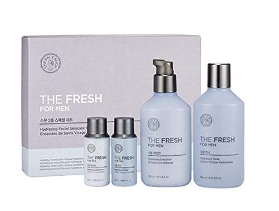同盟粘り強い事故ザ?フェイスショップ ザ?フレッシュフォーマン?ハイドレーティング?フェイシャルスキンケアセットトナー(150+32ml)エマルジョン(140+32ml)メンズコスメ、The Face Shop The Fresh For...