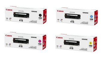 Canon トナーカートリッジ 418 K,C,M,Y 純正 4本セット