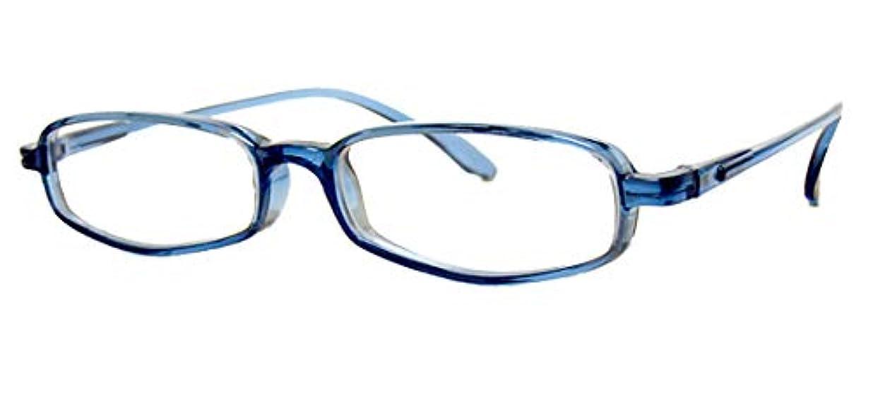 電球シエスタ薬局純日本製 やわらかシニアグラス(老眼鏡)SABAE【オーシャン?ブルー】鯖江製 度数+0.75~+3.5(ケース付)+2.0