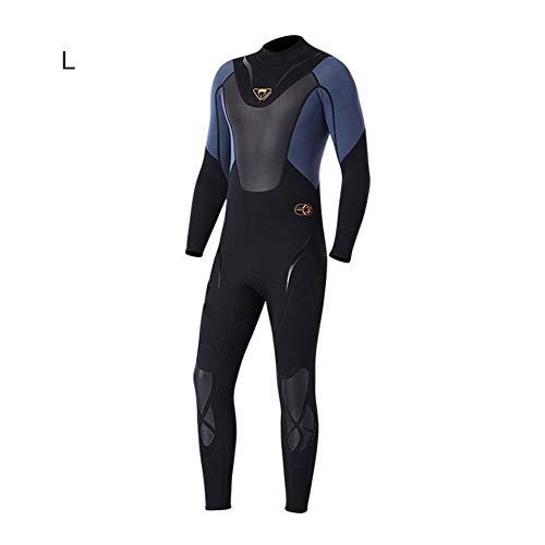 Sunborui ウェットスーツ メンズ 3mmネオプレン素材 ダイビングスーツ フルスーツ ワンピース 長袖 ロングスリーブ ダイビング サーフィン UVカット 防寒保温
