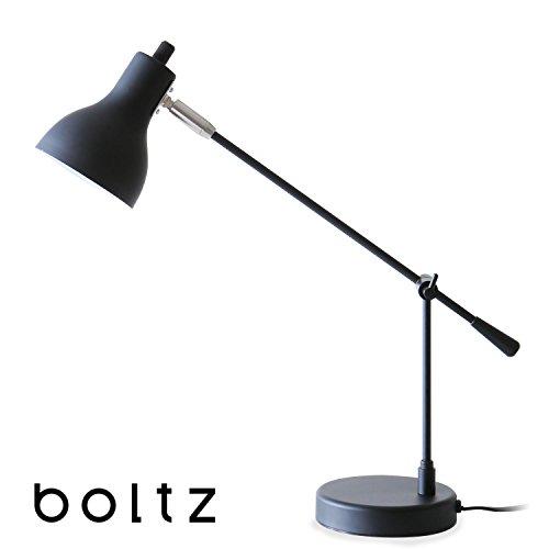 RoomClip商品情報 - LOWYA (ロウヤ) boltz デスクライト 照明 LED電球対応 マット スチール塗装 おしゃれ 口金E17 電球11W以内 スタンドライト 単品 ブラック 新生活