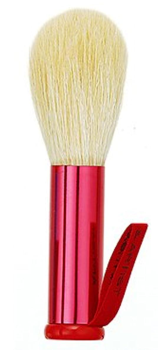バッジ海藻フレキシブル熊野筆 竹宝堂 正規品 泡立てブラシ FAシリーズ (FA-3(赤)) 毛材質:山羊 広島 化粧筆
