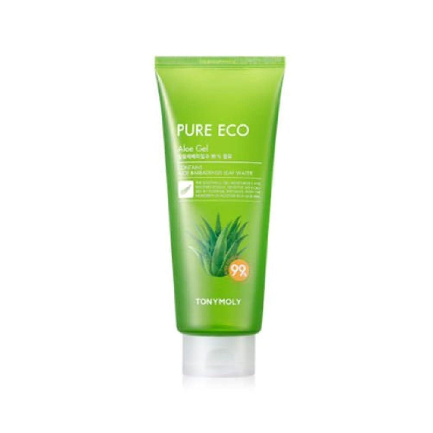 図書館暖かさ暗記するTONYMOLY Pure Eco Aloe Gel (Tube) (並行輸入品)