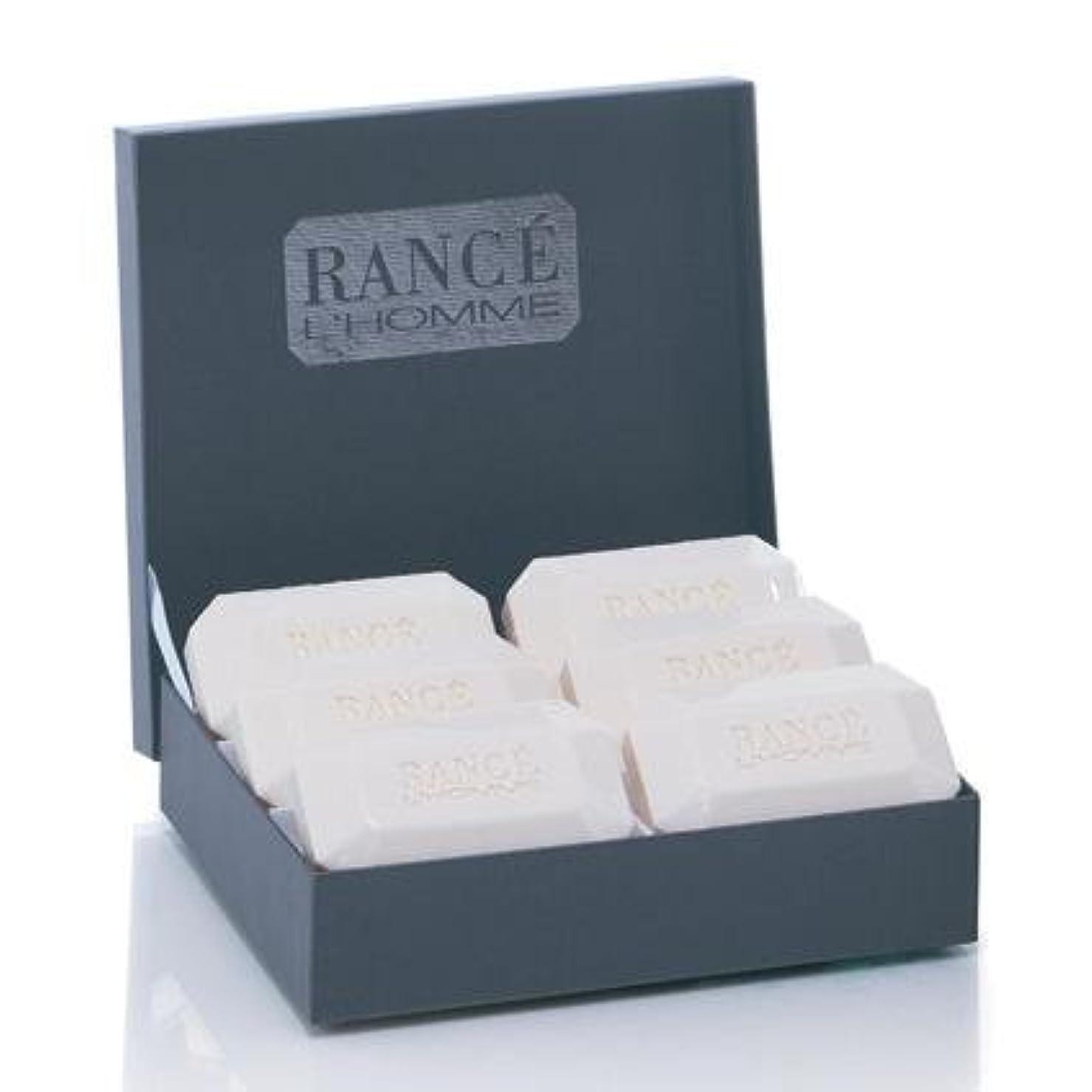 灰町無心Rancé L'Homme Soapbox(ランセ ロム ソープボックス)6 x 100g [並行輸入品]