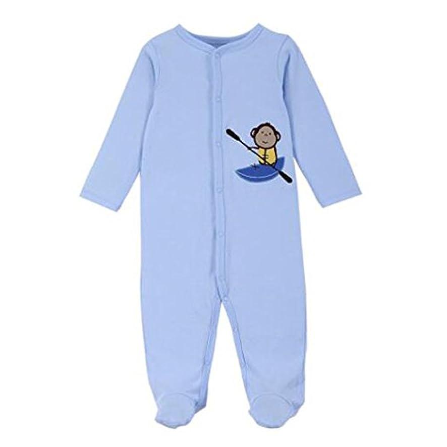 たっぷり謝罪検出可能Hzjundasi 新生児 幼児 コットン ロンパース ジャンプスーツ パジャマ 秋冬 長袖 ボディスーツ ナイトガウン ベビー パジャマの服
