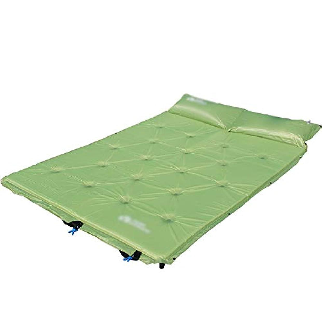 熟す下位解放自動エアマットレス、キャンプハイキングバックパックビーチに適した枕キャリングバッグ付きシングル/ダブル防湿キャンプマット (Size : F)