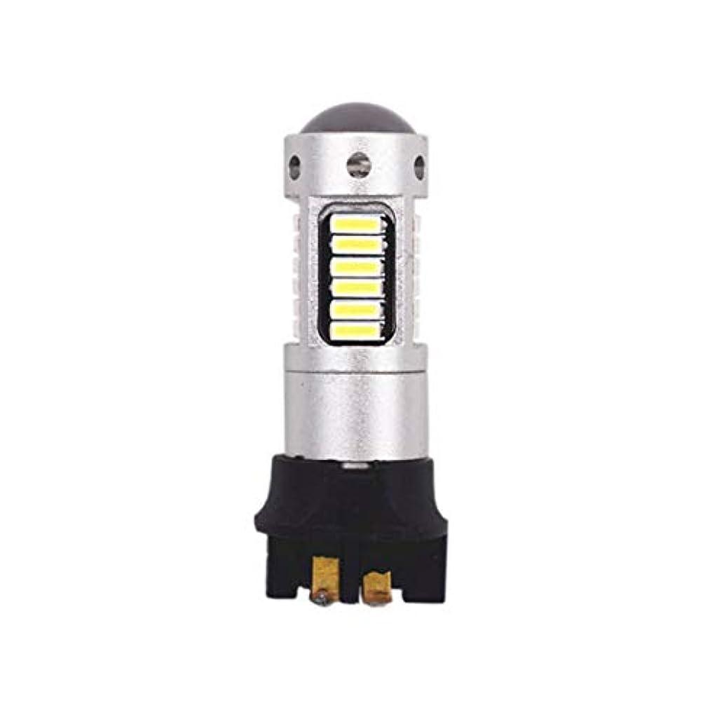 保持する除去蓄積するPW24W 4014 30SMD明るい低消費電力車フォグランプブレーキライトリバースライト車の駐車場電球-シルバー
