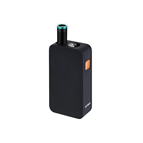 『VEEAPE® 電子タバコPloom tech プルームテック 互換バッテリー PloomTech 互換機 KEYBOX ploomtech互換バッテリー 650mAh 大容量バッテリー長持ち LED機能 液晶 吸引回数表示 3段階の温度設定 小型軽量キーボックス USB充電 電子たばこ スターターキット日本語説明書付き 保障付き (黒)』の1枚目の画像