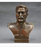 銅真鍮工芸収集銅装飾ブロンズ6 '精巧なロシアのリーダージョセフスターリンバストブロンズ像