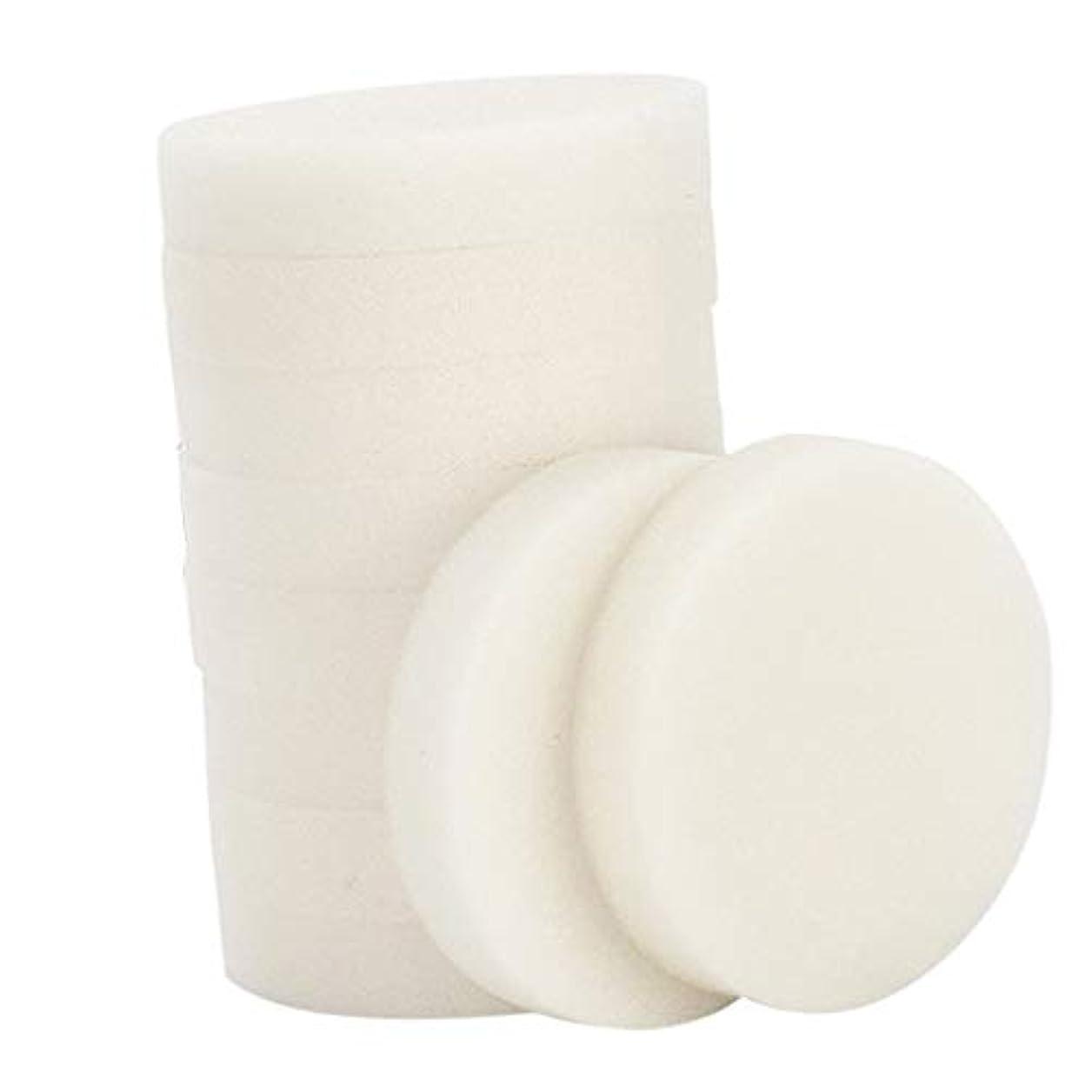 起きるリングレット正確さP Prettyia 10個 メイク落とし 使い捨て 洗顔パフ 通気性 洗顔スポンジ メイクアップパフ 2サイズ選べ - 小