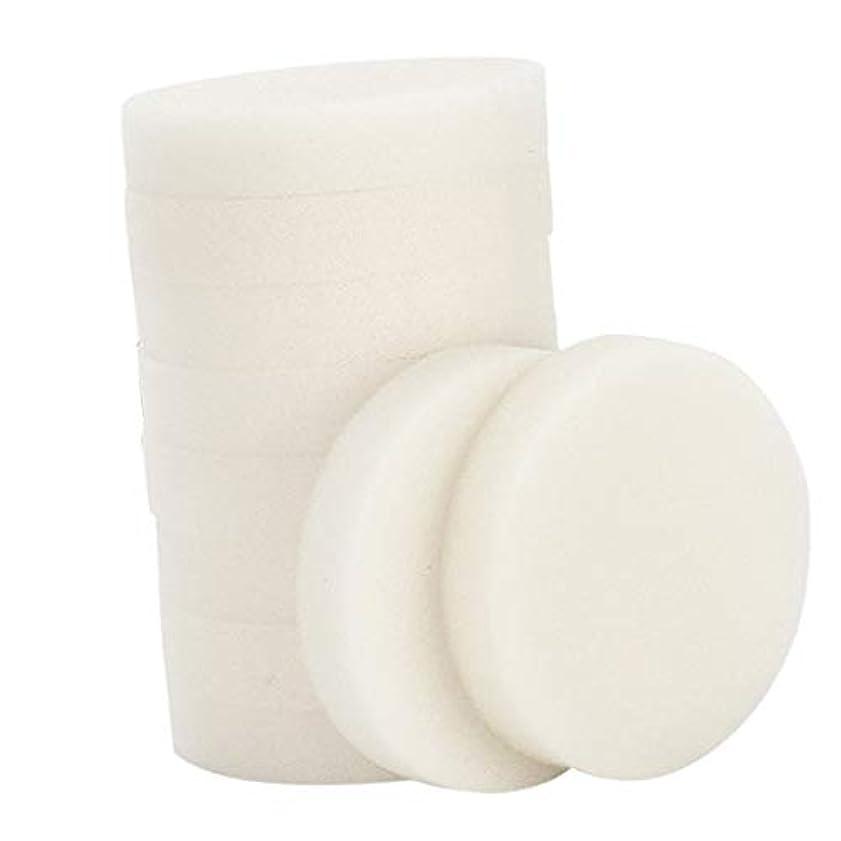 分離生息地汗10個 メイク落とし 使い捨て 洗顔パフ 通気性 洗顔スポンジ メイクアップパフ 2サイズ選べ - 小